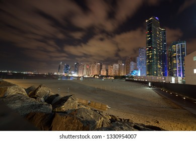 Bluewaters Island, Dubai, United Arab Emirates, March 03, 2019, The Bluewaters Island project by Meraas is a man-made mixed use Island located off the coast of Jumeirah Beach Residence  biggest Ferris