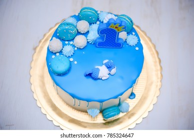 bluie  Birthday cake  first aniversary 1 year boys