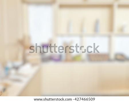 Blur Abstract Background Luxury Open Kitchen Stock Photo Edit Now