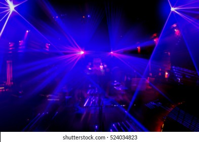 blur Abstract image of disco lights.lights in club party.