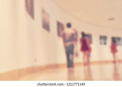blur art gallery - blurred background concept