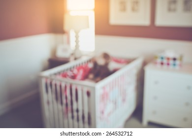 Blur Baby Crib with Retro Instagram Style Filter