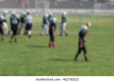 blur background of american football players