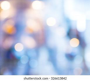 blur background with bokeh image.(dot Pattern Pixelation effect image)