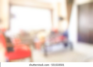 Blur background modern interior living space