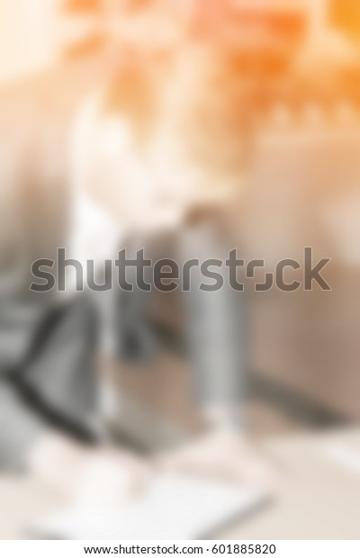Blur Background People Business Sign Name Stock Photo Edit Now 601885820