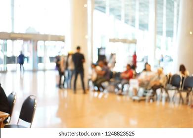 blur background people street market