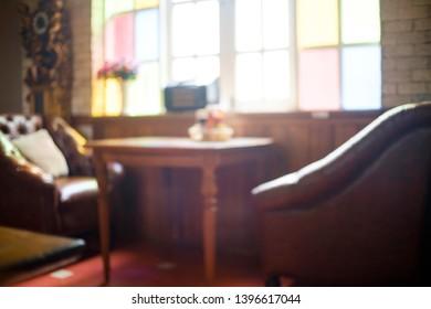 Blur background of restaurant cafe.