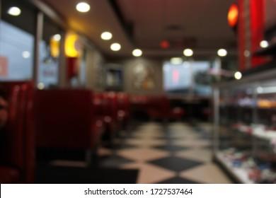 Blur Background, Retro Cafe Restaurant