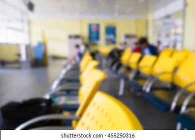 Blur background of terminal bus station.