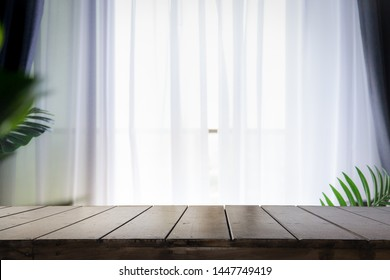 Blur background of white window glass. Using for Mock up template for craft display of your design.