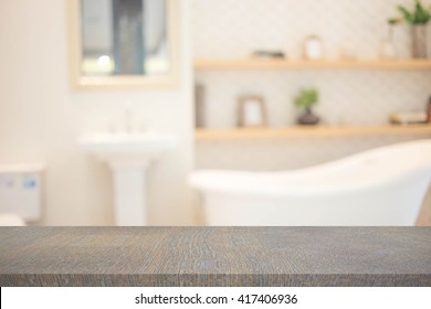 Blur Bathroom  Interior of Background, product display template.