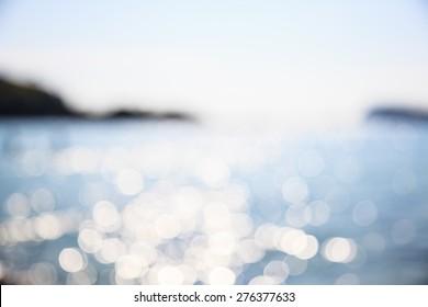 Blur beautiful beach