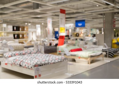 blur bed and bedroom picture background  of furniture mall