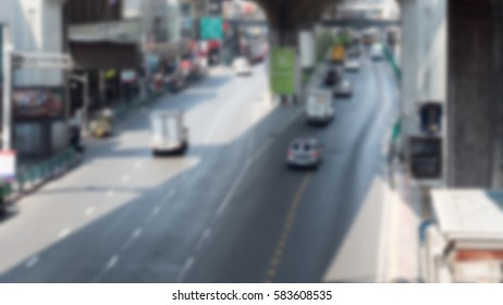 blur Cars moving on the road