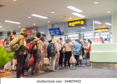 Blur Check-in at Inside the departure hall for background