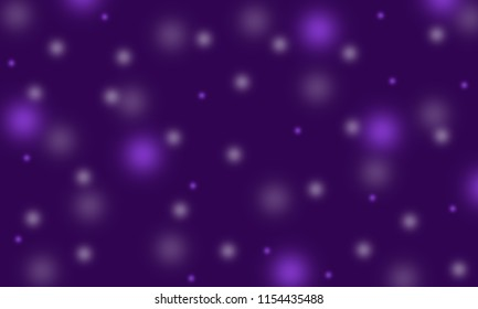 Blur circle bokeh on dark blue background