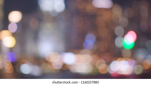 Blur of city view at night