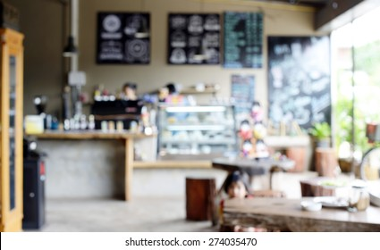 Blur coffee shop background