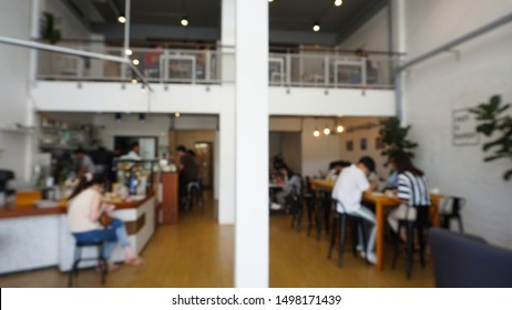 Blur coffee shop or cafe restaurant .For montage product display or design key visual layout.