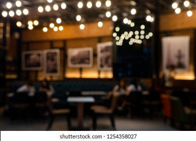 Blur coffee shop,cafe,restaurant with  bokeh, bistro, canteen out of focus,
