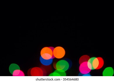 Blur color bokeh background from chrismas tree in dark background 17