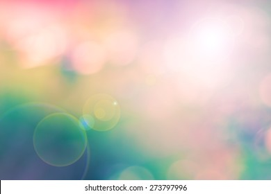 Blur colorful image as a background with lens flare effect