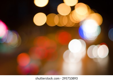 blur colorful lighhts traffic at night time abstract background