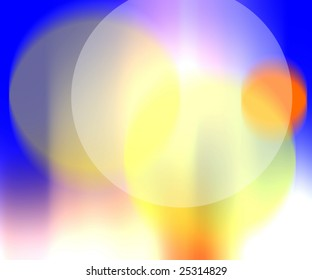 blur colors in blue, yellow, and white