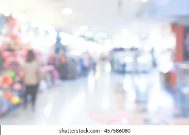 Blur of Defocus Background of Shopping retail store in Plaza Mall. MBK Thailand. Vintage concept