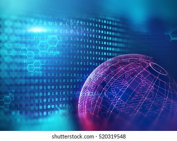 blur and defocus earth futuristic technology abstract background illustration