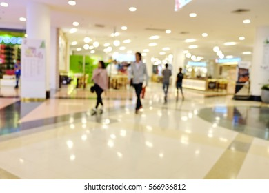 Blur department store or shopping mall background with bokeh