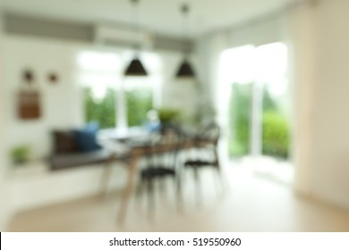 Blur Dinning room for background