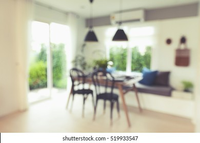 Blur Dinning room for background