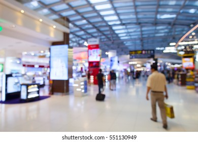 Blur of duty free shop