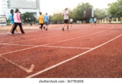 blur effect runner