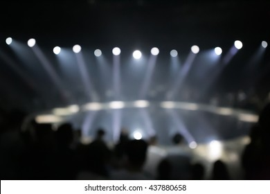 Blur, Fashion show, shot from the audience, blurred on purpose