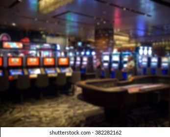 Blur focus in casino. Abstract Background in Las Vegas Nevada.