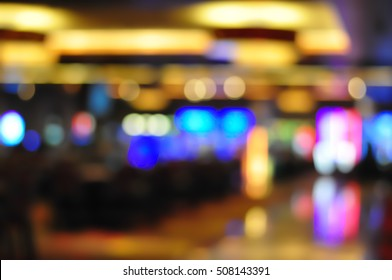 Blur focus in casino. Abstract Background in Vegas Nevada. Blurred Background.