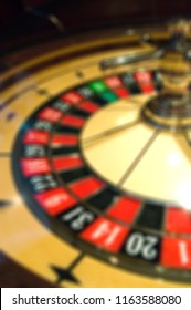 Blur focus in casino. The dynamic roulette in casino.