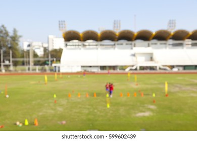 blur football field and stadium