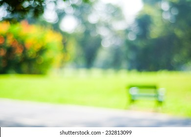 Blur green park, garden outdoor background, blurry tree nature with bokeh light background, Blur nature park in spring and summer