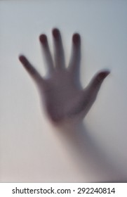 blur of hand's shadow behind a transparent paper background , Black and White , B&W