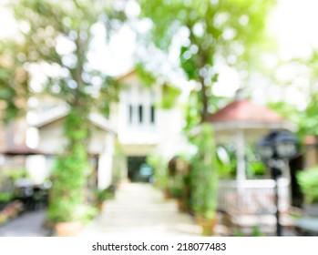 Blur house background