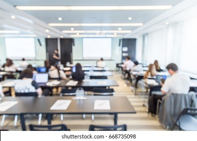blur image background of classroom