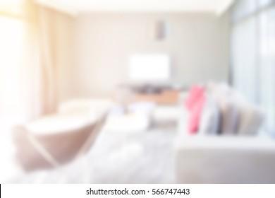 Blur image background modern living room