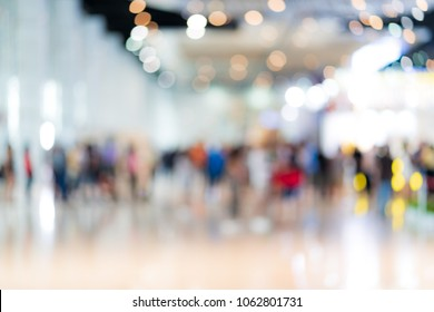 Blur image background of people in exhibition show