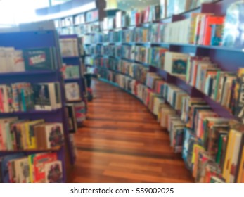 Blur image of a bookstore