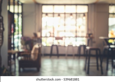 Blur image of cafe in Thailand.