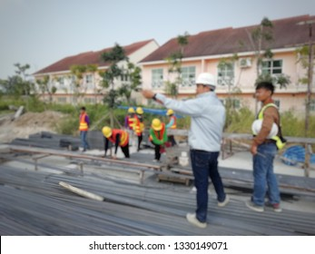 Blur image of civil engineer work